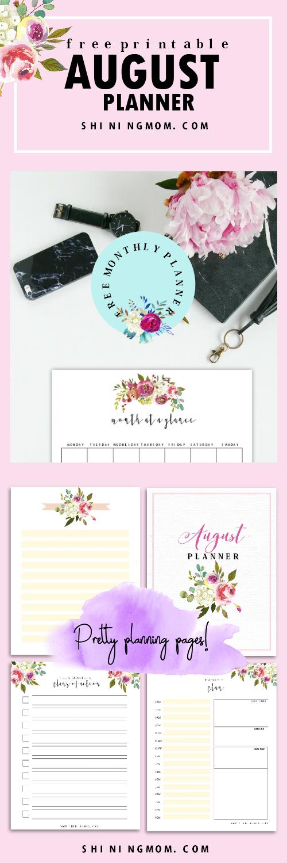 August planner printable