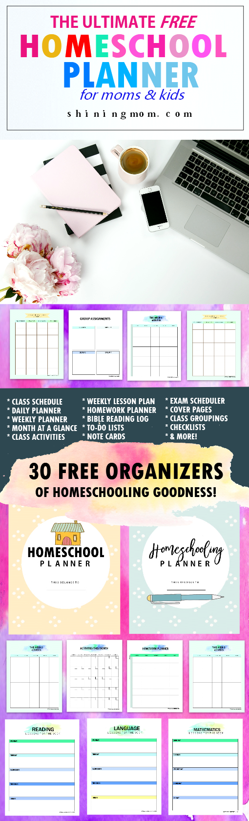 photo relating to Free Printable Homeschool Planner identify The Top No cost Homeschool Planner: 30+ Incredible Printables!