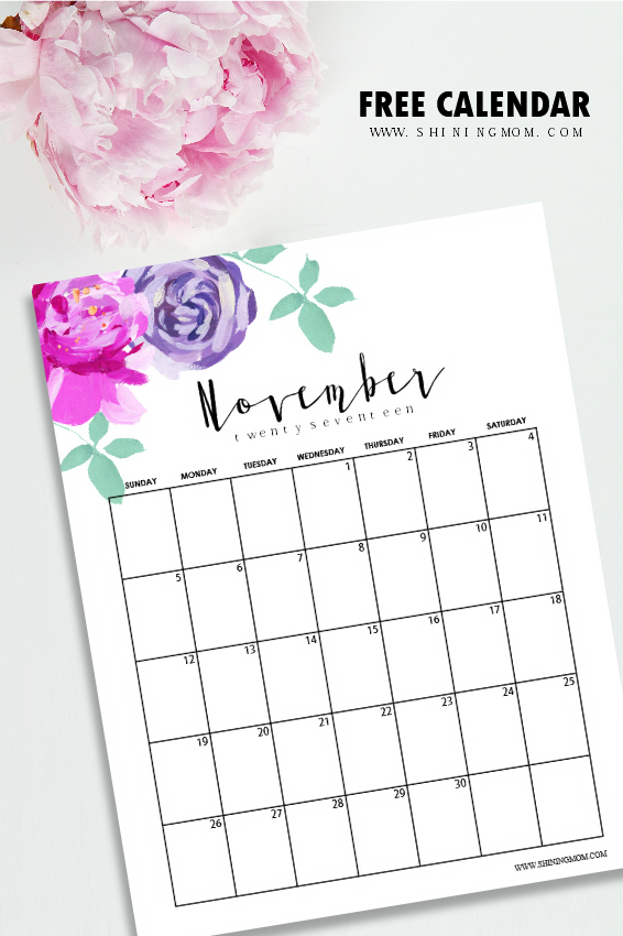 wont they inspire you to plan a beautiful month ahead this pretty november calendar for sure will help you organize your month