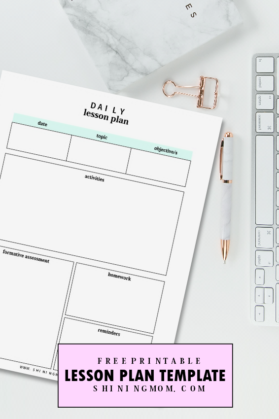 FREE Amazing Lesson Plan Template Printables - Free daily lesson plan template printable