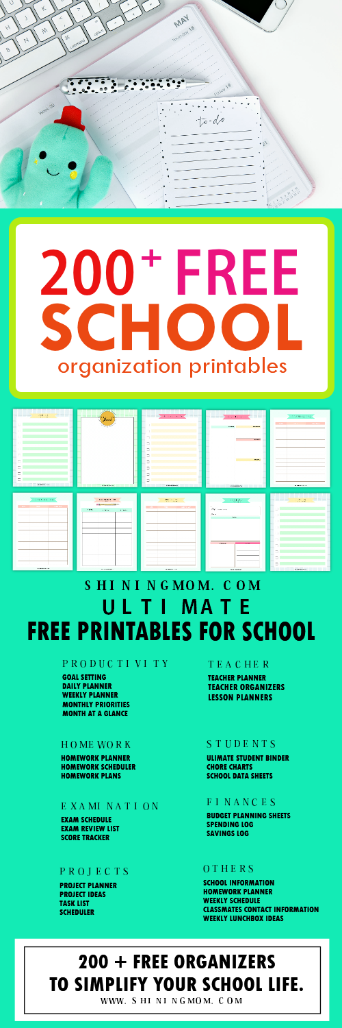 picture regarding Free Organization Printables called 200+ Absolutely free Incredible University student Business Printables