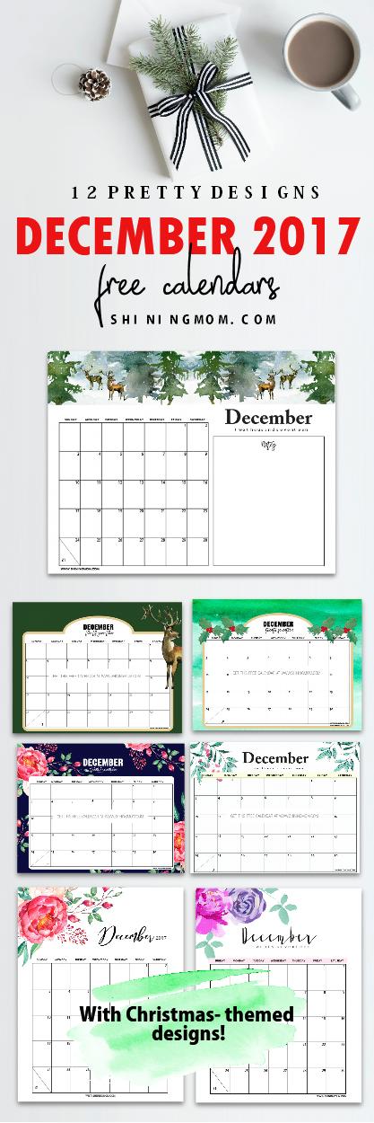 Calendar Design December : Free december calendar christmas themed designs
