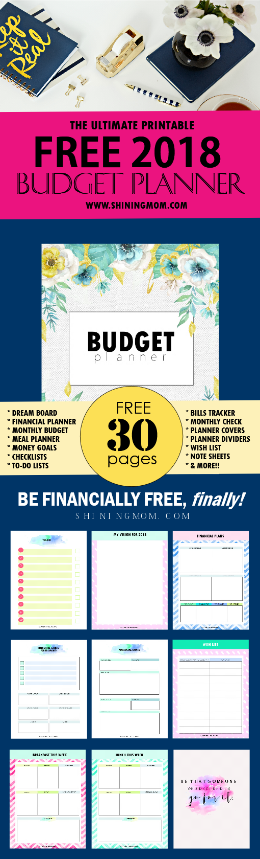 The ultimate free printable 2018 budget planner you need free budget binder 2018 printable solutioingenieria Gallery