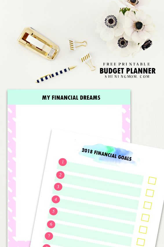 new additions to the shining mom 2018 budget binder start writing down your money dream and start writing your action plans on how it can be achieved