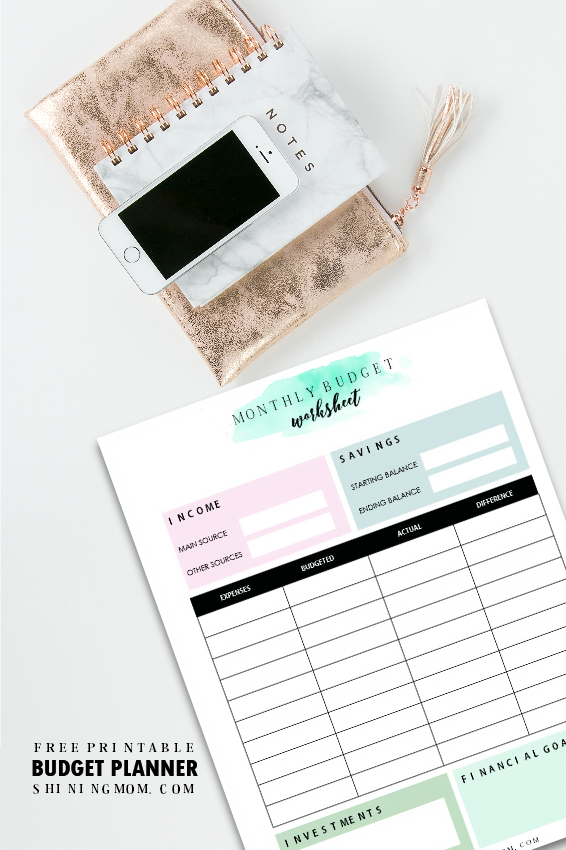 free printable household budget template that works