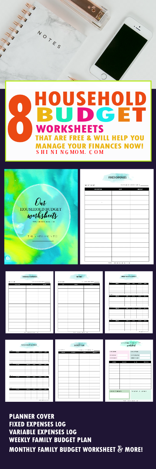 financial planning printables