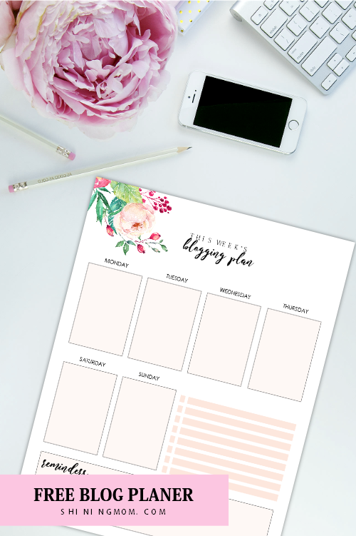Calendario Planner.Free Monthly Calendar 2019 And Life Planner In Florals