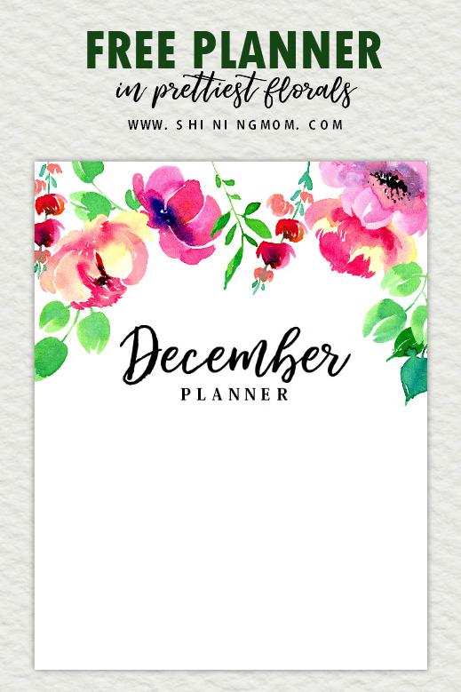 free December planner