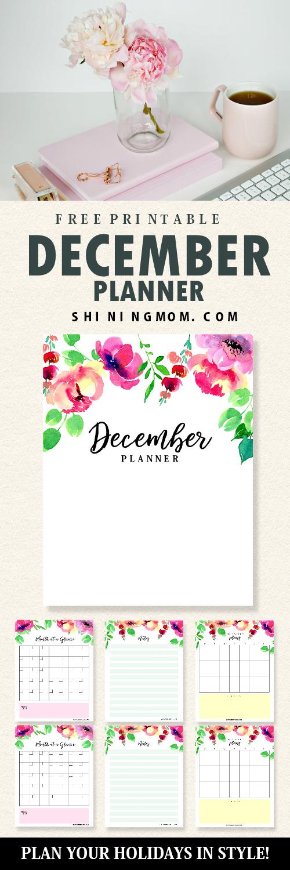 Free printable December planner!