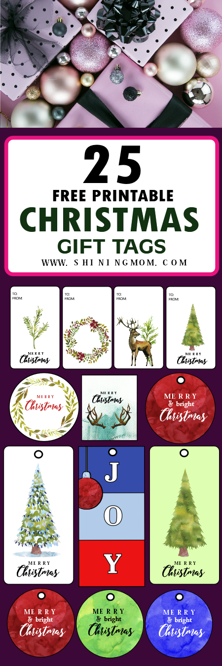 Christmas gift tags printables free