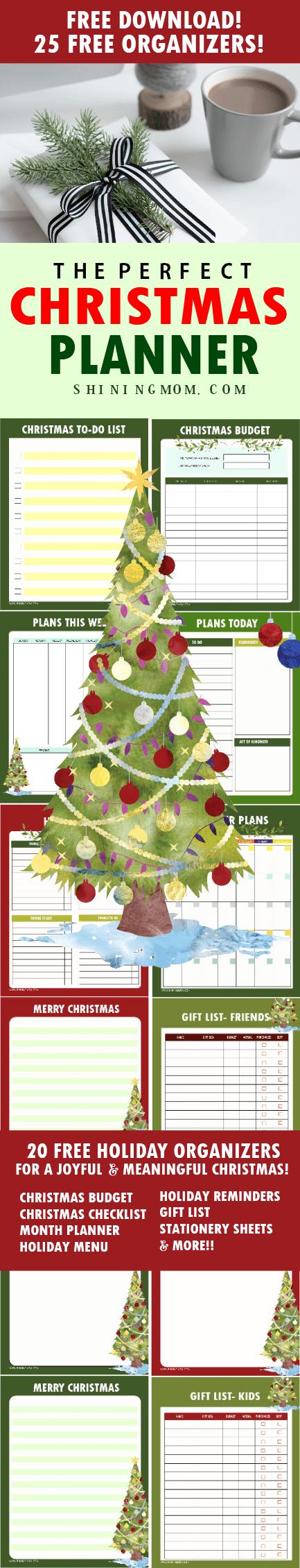 Free Christmas planner printable