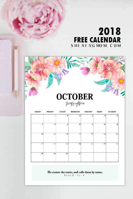 Free 2019 Calendar Printable With Bible Verses To Inspire You