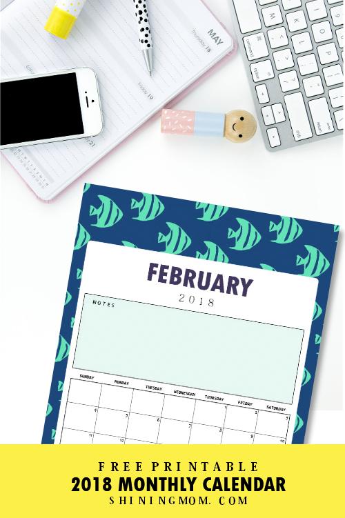 free 2018 school calendar