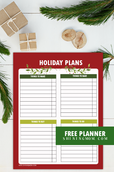 Holiday planner free