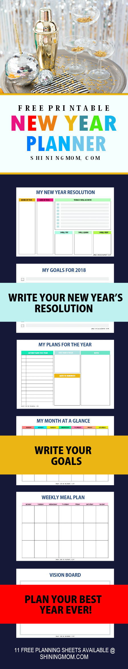 printable year planner 2018