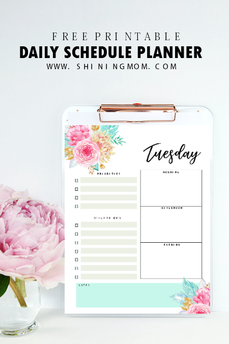daily planner printable free