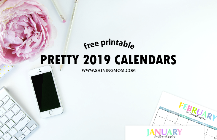 Electronic February 2019 Calendar Free Printable 2019 Calendar: Beautiful and Colorful!