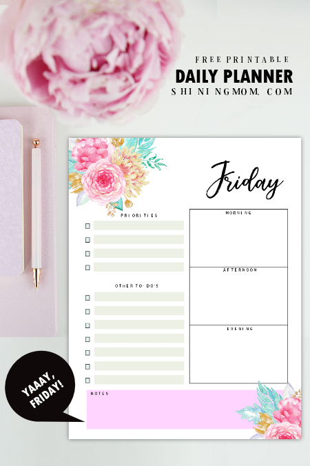 Daily Schedule Template 14 Free Beautiful Daily Planners