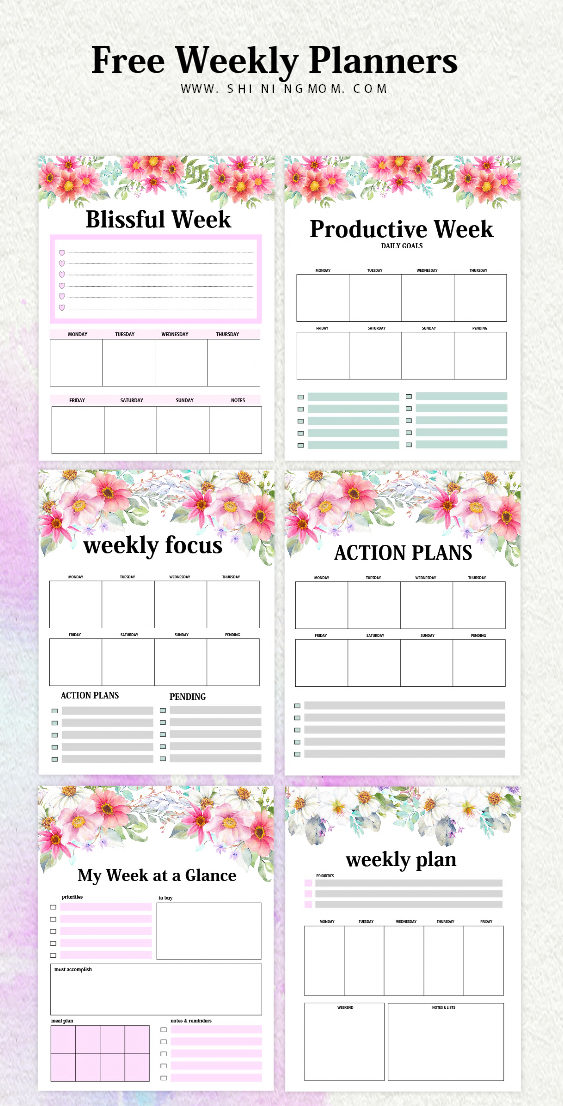 graphic relating to Week Planner Printable known as Weekly Planner Template: 15 Absolutely free Outstanding Patterns!
