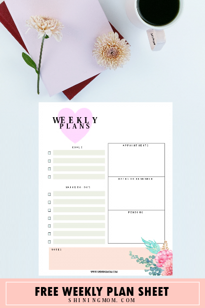 February planner on Pineterest