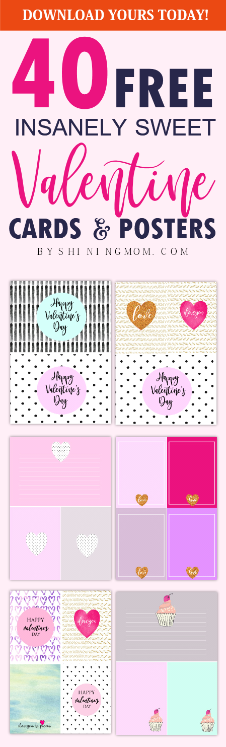 free Valentine's Day cards printables