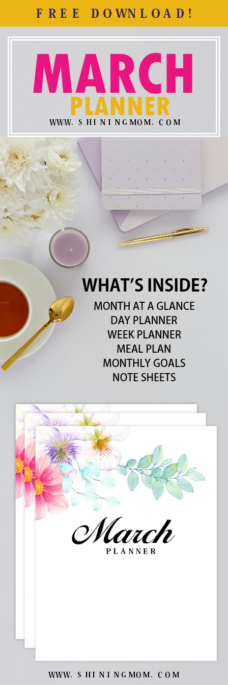 March planner printable