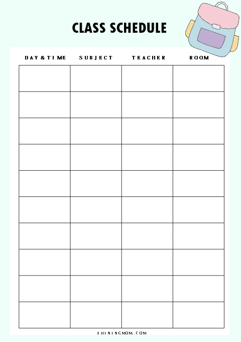 graphic about Student Planner Printable called 40+ Free of charge University student Planner Printables for Back again-in the direction of-College!