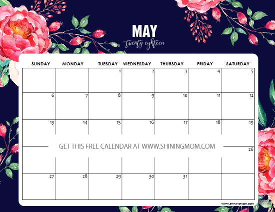 Calendar Girl May Free Read : Free printable may calendar planners