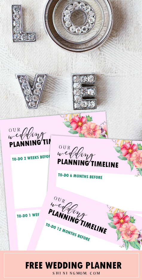free printable wedding planner with wedding checklist
