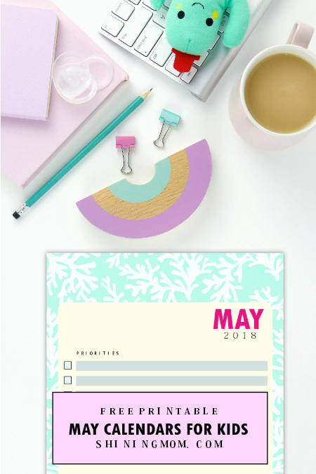 May 2018 calendar for kids