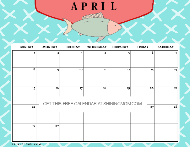 Free Printable April 2018 Calendar: 12 Amazing Designs!