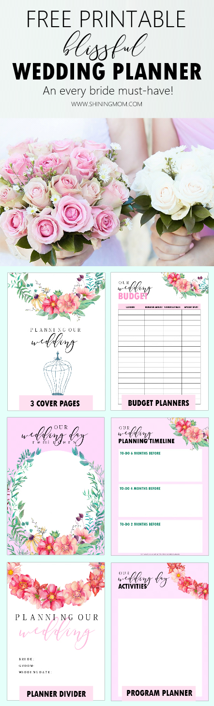 photo relating to Printable Wedding Planning known as Cost-free Printable Wedding day Planner with Marriage Record!