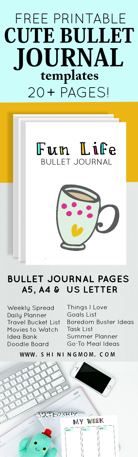 bullet journal templates and printables
