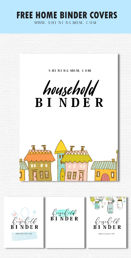 household management binder printables