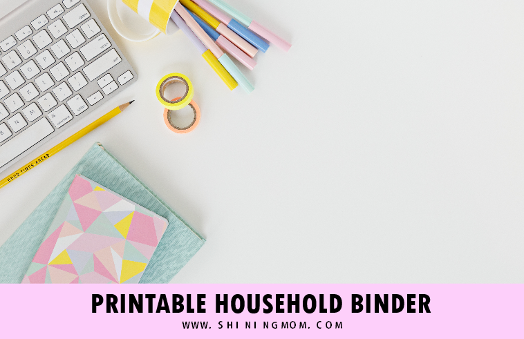 free printable home binder